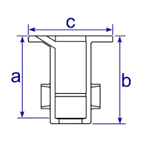 Dimensions Image 1 - 134 - Ground Socket